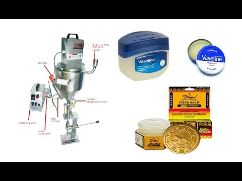 hand operated balm petroleum jelly  filling machine  with jacketed hopper and stirrer