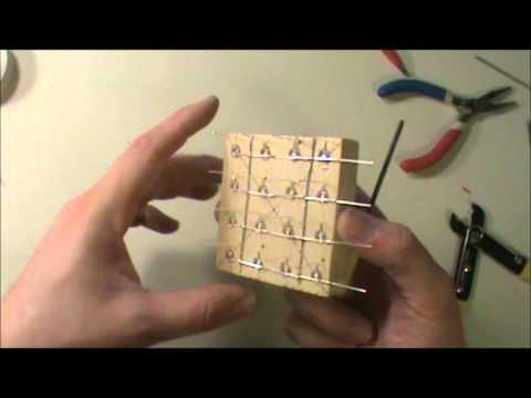 4X4X4 LED Cube Construction