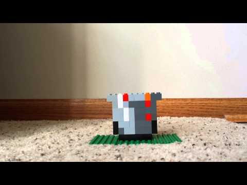 How to Build a Lego Minecraft Lava Bucket
