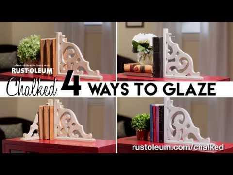 4 Different Ways to Glaze using Rust-Oleum Chalked Decorative Glaze!