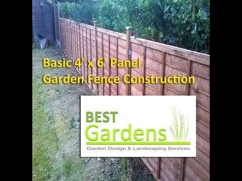 Basic 4' x 6' Panel Garden Fence Construction