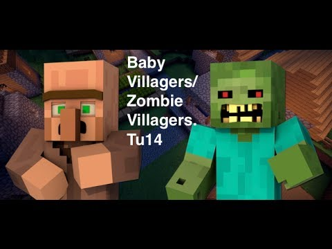 MineCraft : How to get a Baby Zombie and Baby Villagers Xbox360/PS3 Edition (Tu14)