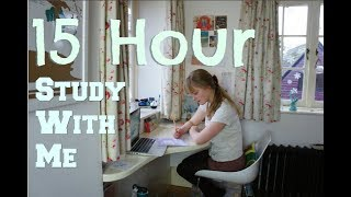 Study With Me || 15 HOUR STUDY DAY (study motivation)