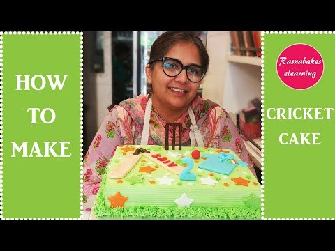 How to Make Cricket Cake: Free Cake Decorating Tutorial