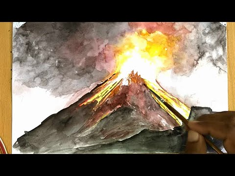How to Draw a Volcano (painting)