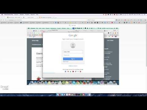 How to change google drive user