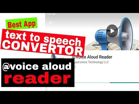 Best app for text to speech converter | Voice Aloud Reader | by Infomania Talk | Hindi