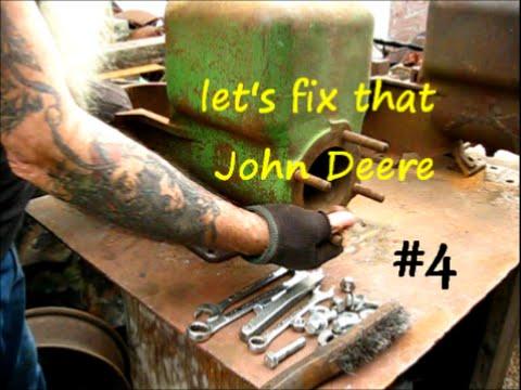 John Deere type e broken block repair (hit and miss engine) 4of4