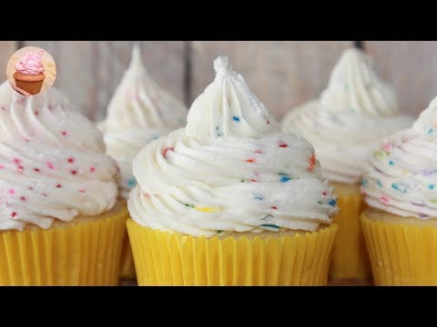 4 Ways To Make Cake Batter Frosting: | Cake Batter Cupcakes | Sprinkle Cupcakes