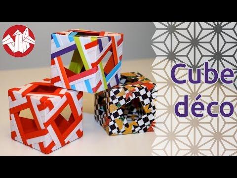 Origami - Cube décoratif - Decorative Cube [Senbazuru]