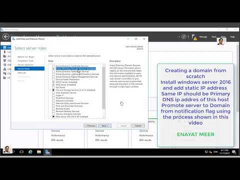 Creating Windows Server 2016 Active Directory Domain from Scratch