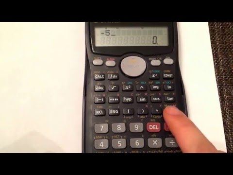 Entering negative values into your calculator (Casio fx-991Ms)