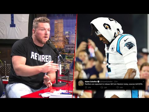 Pat McAfee Reacts To Cam Newton Being Cut From The Panthers. Report