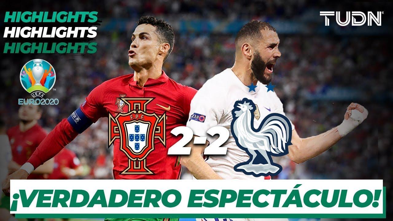 Highlights | Portugal 2-2 Francia | UEFA Euro 2020 | Grupo F-J3 | TUDN