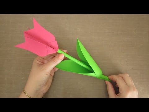 PAPER FLOWER TULIP HOW TO FOR KIDS