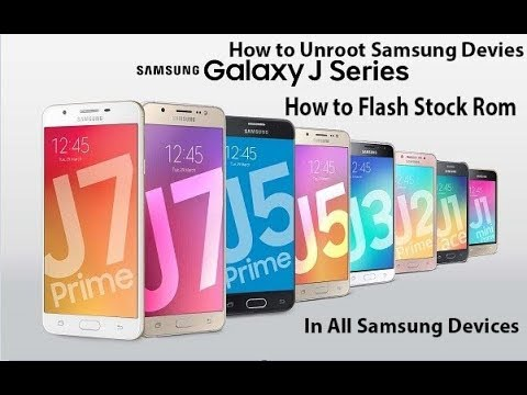 Samsung Galaxy J5 J500F - How to restore original firmware with