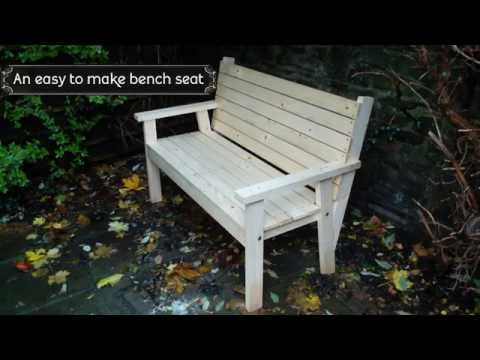 Easy to make bench seat