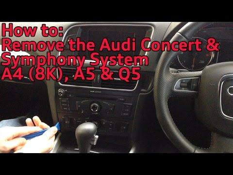 How to Remove The Audi Concert & Symphony Radio System