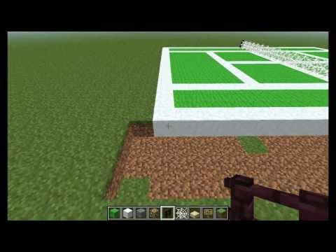 [EN] Minecraft Tutorials - How to build a tennis arena [HD]