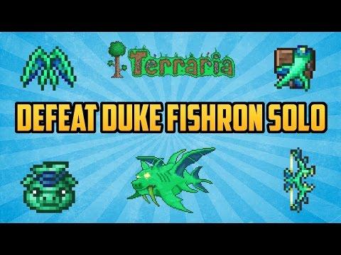 Terraria ios 1.2.4 | How to Defeat Duke Fishron SOLO (Easiest Method) Working 2016