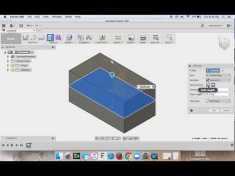 Fusion 360 🎬 ✅ 🖱 SUPER BASIC SLOW PACE Lesson: Extruding a solid