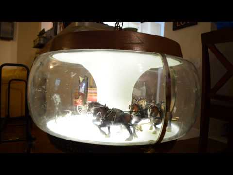 AMAZING Budweiser Beer Clydesdale Parade Carousel Light Collectible
