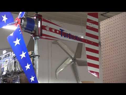 Missouri Wind and Solar's  Freedom ll Patriotic Wind Turbine
