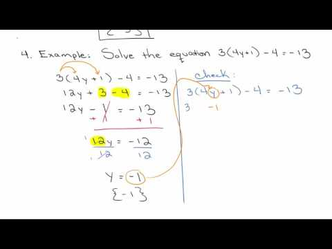 Solving Linear Equations using the properties together