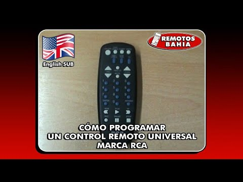 HOW TO PROGRAM AN RCA UNIVERSAL REMOTE CONTROL IN LESS THAN 1 MINUTE REMOTOS BAHIA