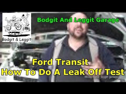 Leak off test Ford Transit/testing for bad injectors bodget and Leggit garage