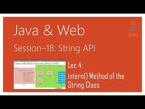 String API in Java | #4 | intern() Method of the java.lang.String Class in Java