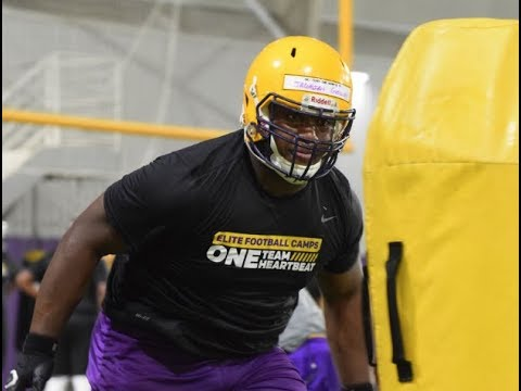 Louisiana 2020 DT Jacobian Guillory highlights from LSU camp