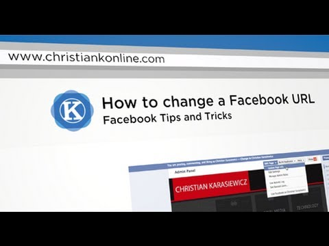 How to change a Facebook URL
