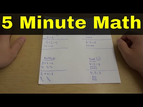 Learn How To Do Math In 5 Minutes-Add, Subtract, Multiply, And Divide