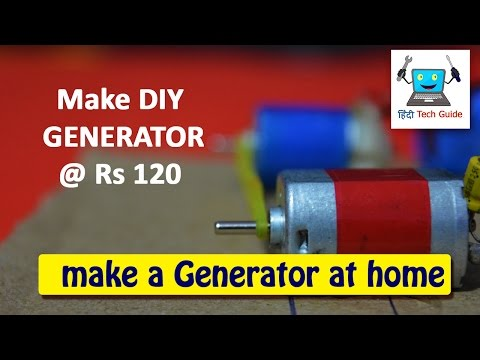 how to make DIY electric generator for school science projects