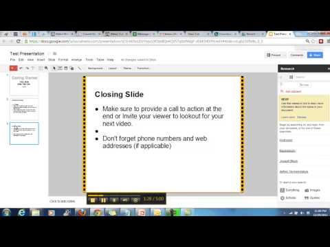 How To Create Presentation Videos Using Free Online Software