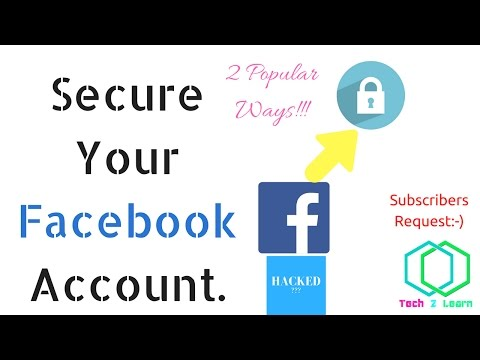 how to secure Facebook account from hacking and spamming ! 2 very Best Ways [Urdu/Hindi]