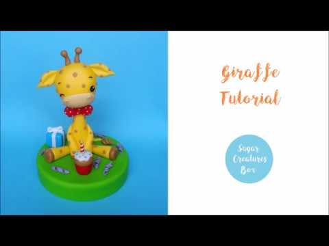 Giraffe - cake topper tutorial