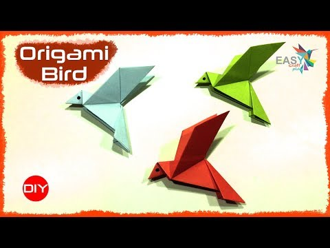 How To Make an Origami Flapping Bird- Step by Step | Easy Tutorials | Origami for kids | PaperCrafts