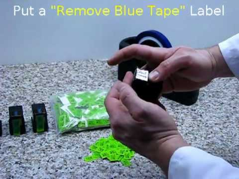 How to seal the print heads of ink cartridges with Blue Tape