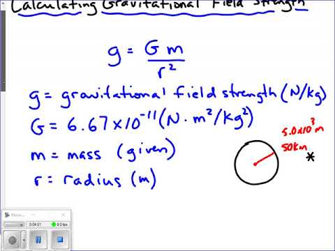 Calculating Gravitational Field Strength