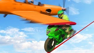 99.9% IMPOSSIBLE TO DODGE THE PLANE! (GTA 5 Funny Moments)
