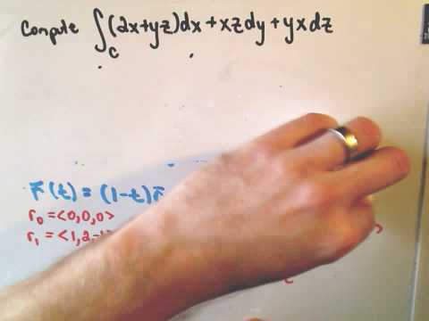 Evaluating a Line Integral Along a Straight Line Segment