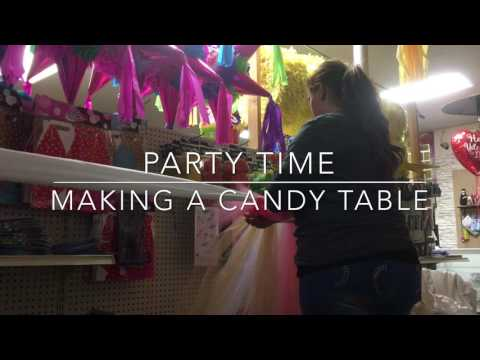 Making a candy table/ 1st birthday party