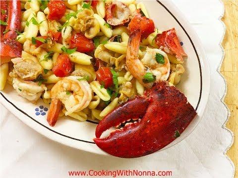 Cavatelli ai Frutti di Mare -  Rossella's Cooking with Nonna