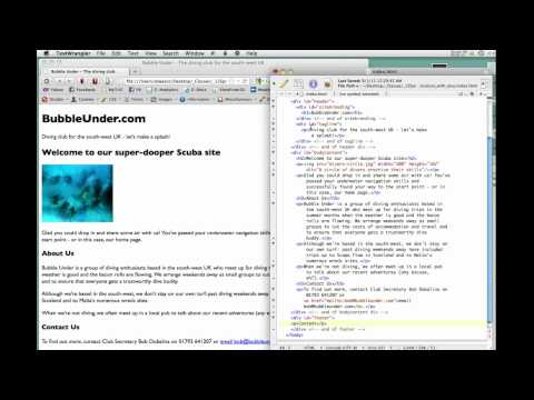 Web 1 - Wk3 Creating a mini-site - Pt. 1 of 2