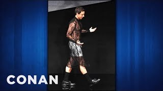 Seth Meyers On Wearing Marc Jacobs See-Thru Ball Dress - CONAN on TBS