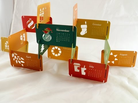 Starbucks Calendar 2014 2015 Card New Limited Gift Edition Christmas No Coffee