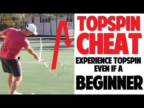 Tennis Topspin Cheat: How to Get Topspin Even if a Beginner (Top Speed Tennis)