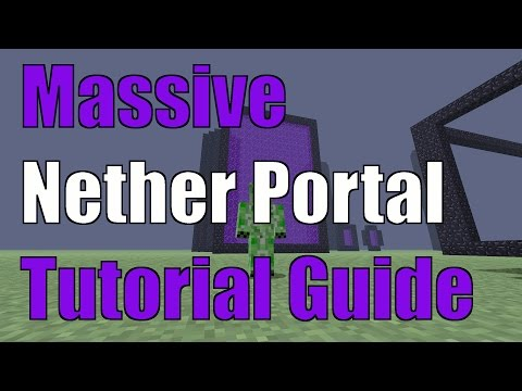 Minecraft Xbox One Edition TU31 Massive Nether Portal Tutorial Guide
